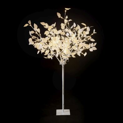 1.5m (5 Foot) White 150 Light Warm White LED Christmas Tree