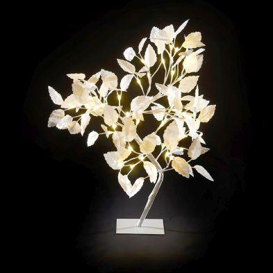 65cm (2 Foot) White 48 Light Warm White LED Christmas Tree