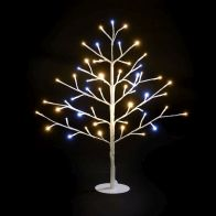 See more information about the 60cm (2 Foot) 51 Bulb Warm White & Mixed LED Christmas Tree
