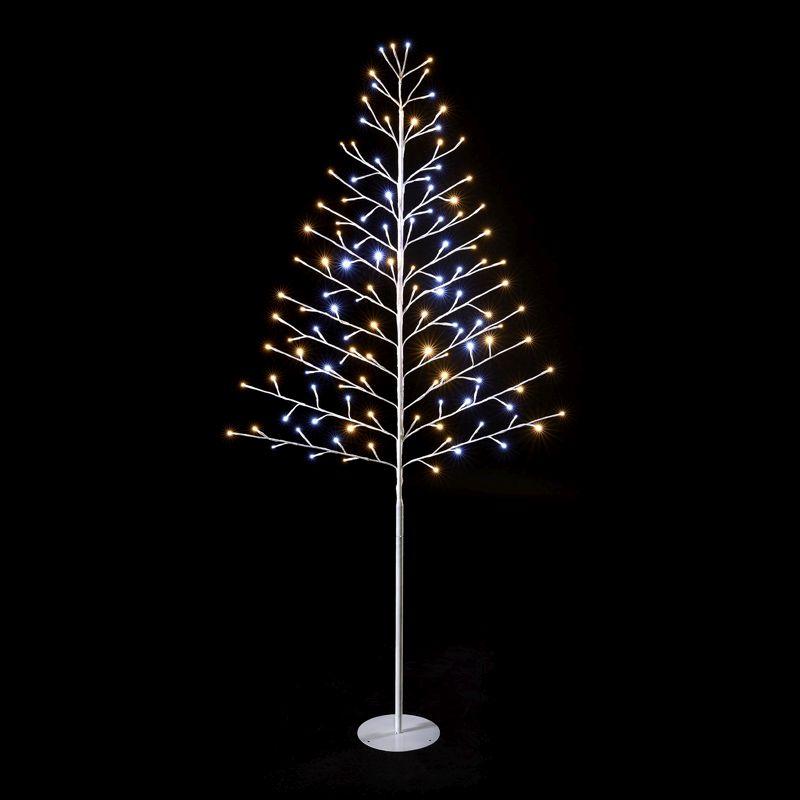 Lead Free Christmas Trees: 180cm (6 Foot) 124 Lights Mix LED Christmas Tree