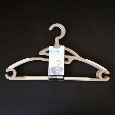 Image of Clothes Hanger 4 Piece Set - Brown
