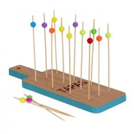 See more information about the Tapas Bamboo Tray Set - Blue
