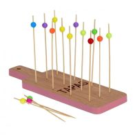 See more information about the Tapas Bamboo Tray Set - Pink