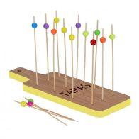 See more information about the Tapas Bamboo Tray Set - Yellow