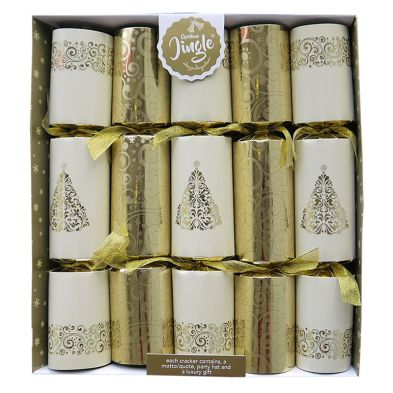 10 Deluxe Crackers Floral Tree 14 Inch