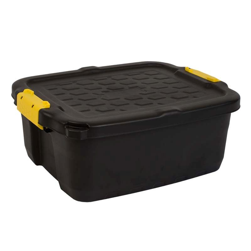 24L Strata Heavy Duty Black Box & Lid