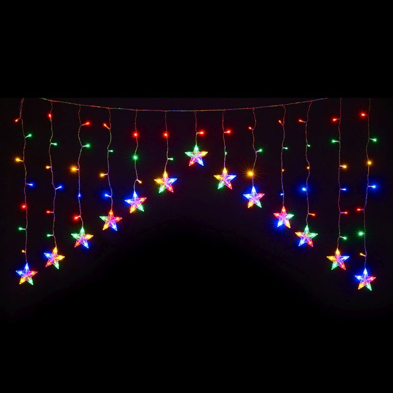120 LED Multicolour Indoor Animated Curtain Light Mains 80 x 144cm