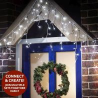 See more information about the 300 LED White Outdoor Animated Icicle Extendable Light Mains 1.5m