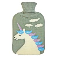 See more information about the 2 Litre White Unicorn Grey Hot Water Bottle