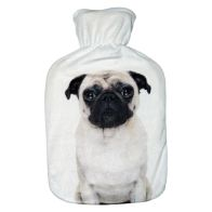 See more information about the 2 Litre Hot Water Bottle Black & White Pug