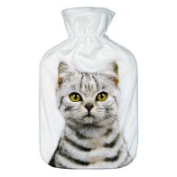 See more information about the 2 Litre Hot Water Bottle White & Brown Striped Cat