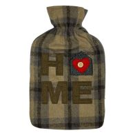 See more information about the 2 Litre Tartan Hot Water Bottle Brown Home