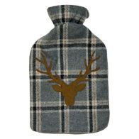 See more information about the 2 Litre Grey Tartan Hot Water Bottle Stags Head