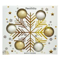 See more information about the Possibility 6 X 90g Bath Fizzers White Snowflake Box Gift Set