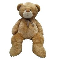 "See more information about the Enormous Sitting Teddy Light Brown - 53 Inch (4' 5"")"