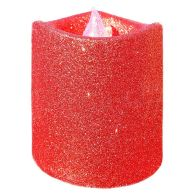 See more information about the 8cm LED Glitter Candle Red