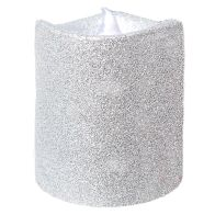 See more information about the 8cm LED Glitter Candle Silver