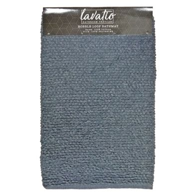 Bobble Loop Bathmat Grey