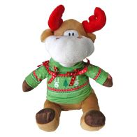 See more information about the 12inch Ugly Sweater Animated Moose Toy
