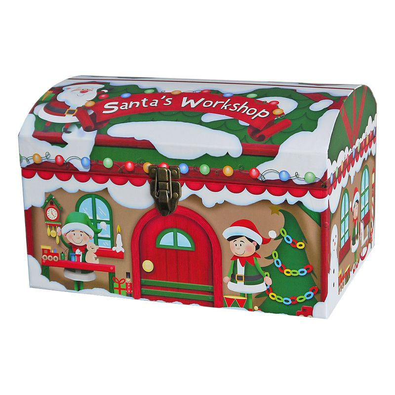 Christmas Gift Boxes.Santa Workshop Chest Christmas Eve Gift Box Small