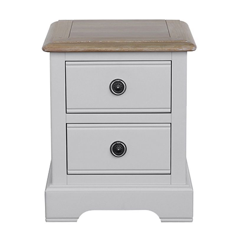 Olivia Oak 2 Drawer Bedside Table