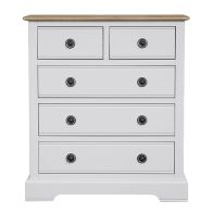 See more information about the Olivia Grey & Oak Chest Of 5 Drawers