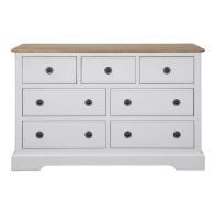 See more information about the Olivia Grey & Oak Chest Of 7 Drawers