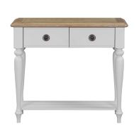 See more information about the Olivia Console Table Grey & Oak 2 Drawer