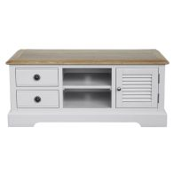 See more information about the Olivia TV Unit Grey & Oak 1 Door 2 Shelf 2 Drawer