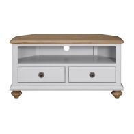 See more information about the Olivia Oak 2 Drawer Corner TV Unit