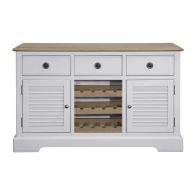 See more information about the Olivia Oak 3 Drawer 2 Door Sideboard