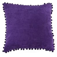 See more information about the Purple Pom Pom Cushion 45 x 45cm