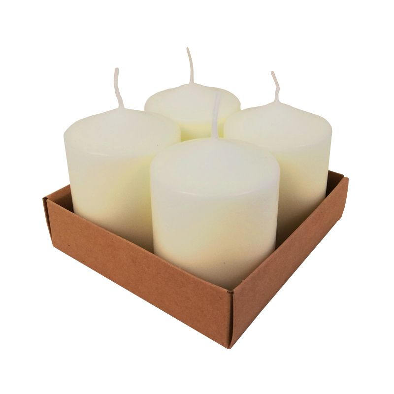 4 Pack 8cm Pillar Candle