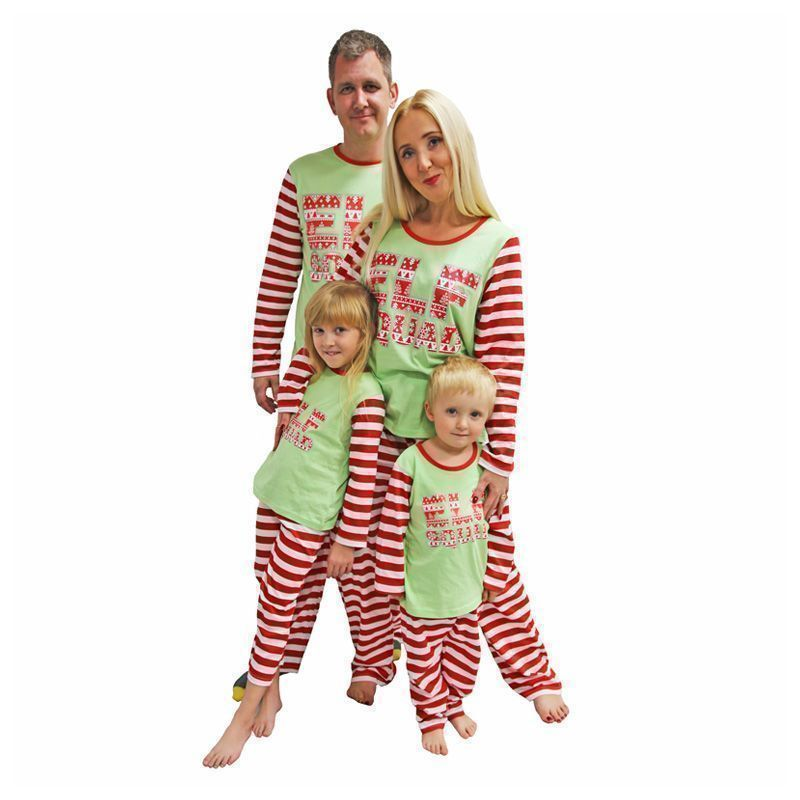 Family Elf Squad Christmas Pyjama Set Mens X Large