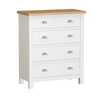 See more information about the Jasmine White 5 Drawer 2 over 3 Chest of Drawers