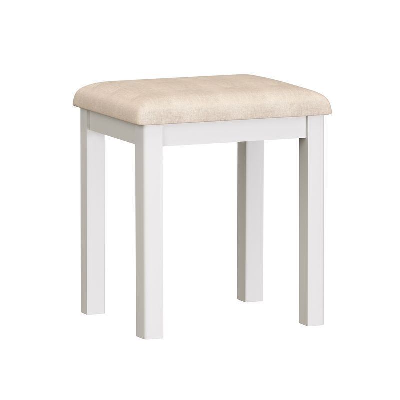 Jasmine White Dressing Table Stool