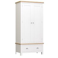 See more information about the Jasmine Wardrobe Oak & White 2 Door 1 Drawer