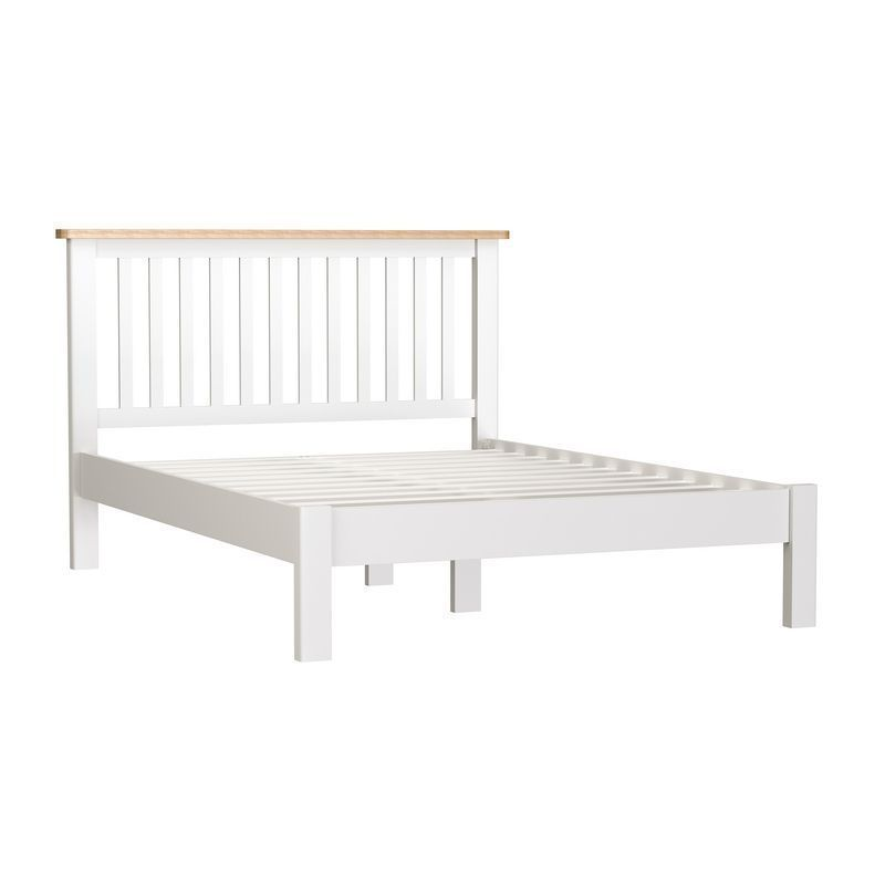 Jasmine White Double Bed 4'6 Bed Frame