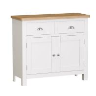 See more information about the Jasmine White 2 Drawer 2 Door Sideboard