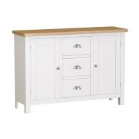 See more information about the Jasmine White 3 Drawer 2 Door Large Sideboard
