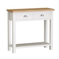 See more information about the Jasmine Console Table Oak & White 1 Shelf 2 Drawer