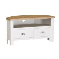 See more information about the Jasmine White 2 Drawer Corner TV Unit