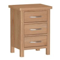 See more information about the Sienna Bedside Oak 3 Drawers