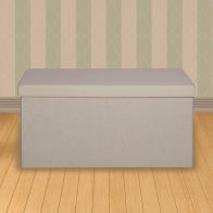 See more information about the Large Oatmeal Fabric Ottoman 86 x 39 x 38cm