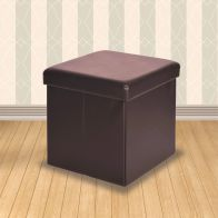 See more information about the Brown Storage Ottoman 38cm Cube