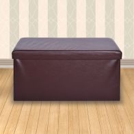 See more information about the Secreto Storage Ottoman Brown & Faux Leather Large