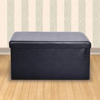 See more information about the Secreto Storage Ottoman Black & Faux Leather Large
