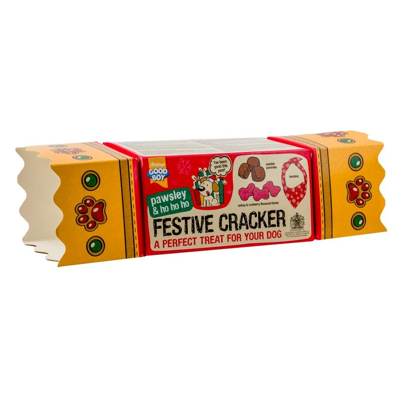 Good Boy Dog Treats Festive Christmas Cracker