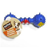 See more information about the Extra Select Rubber Teething Dumbell Dog Chew Toy Blue