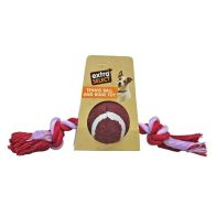 See more information about the Extra Select Tennis Ball & Rope Bone Tugger Toy Red